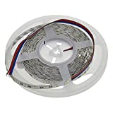 LEDwholesalers Ultra High Output 24-Volt 16.4-ft Color-Changing + White RGBW Flexible LED Ribbon Strip Light with 600xSMD3527, 20217RGBW