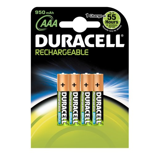 DURACELL AAA RECHARGEABLE BATTERIES 1000 MAH (1 PACK OF 4 AAA DURACELL RECHARGEBLE)