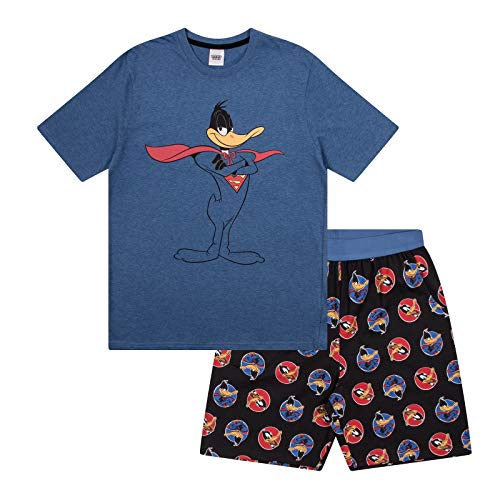 Looney Tunes Daffy Duck Official Gift Mens Short Pajamas Large