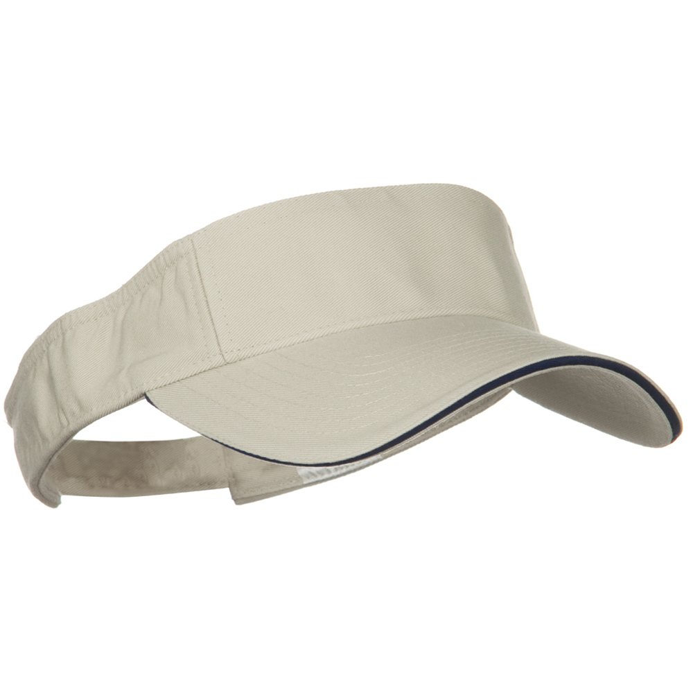 Stone Navy W38S37F Prostyle Cotton Twill Washed Sandwich Visor