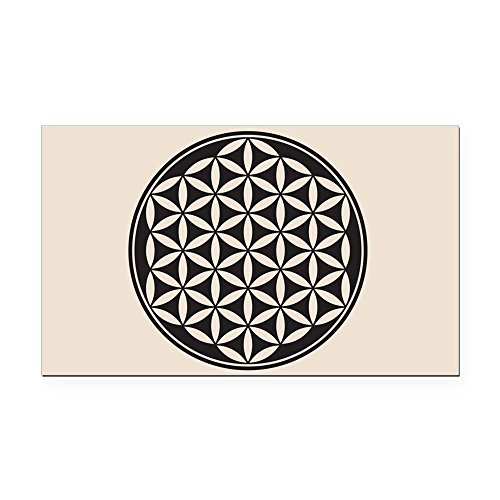 Rectangle Car Magnet Flower of Life Peace Symbol