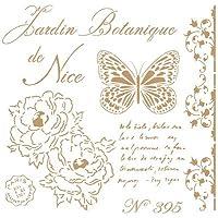 TODO-STENCIL Deco Vintage Composición 209 Botanique Nice. Medidas