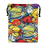 Coral Reef Sea Life Drawstring bag Beam Mouth Yoga Bags For Men & Women