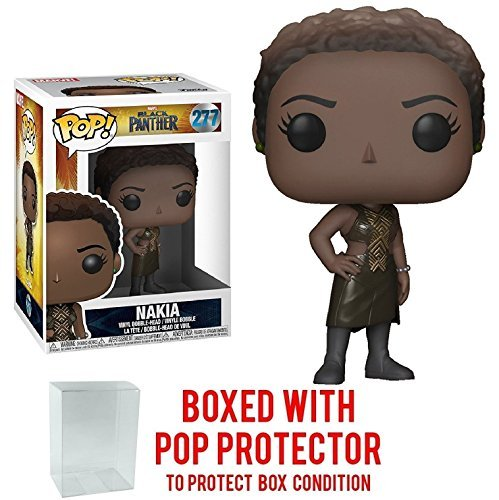(Funko Pop! Marvel: Black Panther - Nakia #277 Vinyl Figure (Bundled with Pop BOX PROTECTOR CASE))
