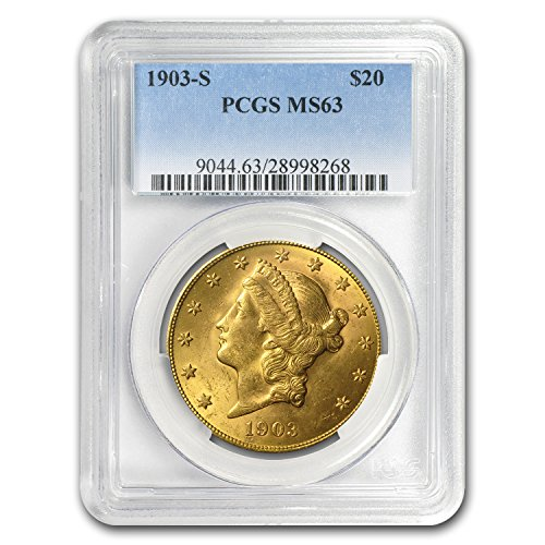 1903 S $20 Liberty Gold Double Eagle MS-63 PCGS G$20 MS-63 PCGS
