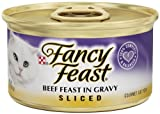 Fancy Feast Gourmet Cat Food, Sliced Beef Feast in Gravy, 3-Ounce Cans (Pack of 24), My Pet Supplies