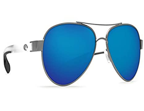 12501c20160 Image Unavailable. Image not available for. Color  Costa Del Mar LR 74  Loreto Gunmetal With Crystal Square Sunglasses ...