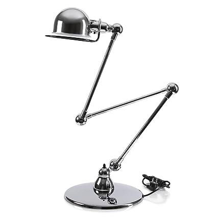 Loft - Lámpara de pie articulado acero cromo H120 cm ...