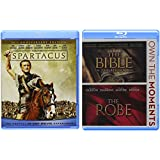 Celebration of Easter 3-Movie Blu-ray Bundle - Spartacus (50th Anniversary Edition), The Bible...In the Beginning & The Robe Collection