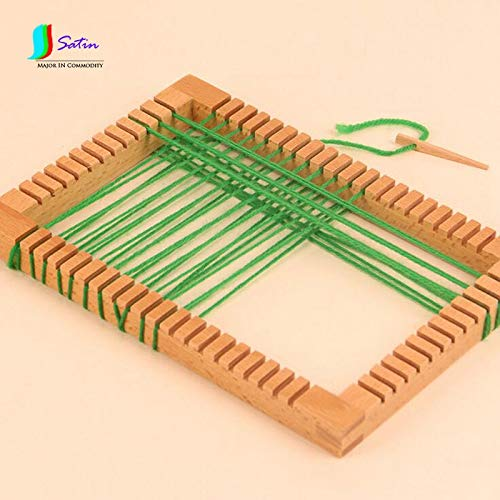 Dalab Simple and Easy Child DIY Knitting Tool Wooden Loom,Scarf/hat Creative Knitting Machine Wooden Tool S0106L