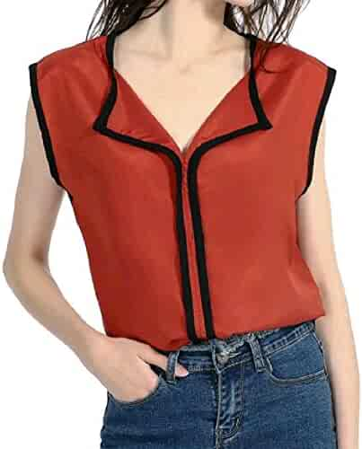 F/_Gotal Womens Tank Tops Summer Sequin Patchwork Solid Casual Loose Vest Cami Shirt Blouse Top Sleeveless for Teen Girls