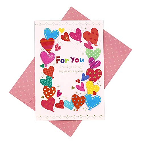 Maumdama Handmade Love Greeting Card For All Occasionwith Dotted Envelope (Heart House) -