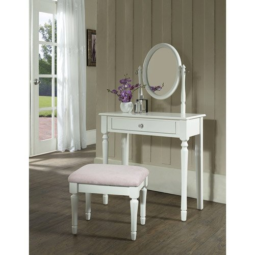 Princess Vanity Set with Mirror and Bench, White by Princess