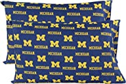 College Covers Michigan Wolverines Pillowcase Pair - Solid (Includes 2 Standard Pillowcases)