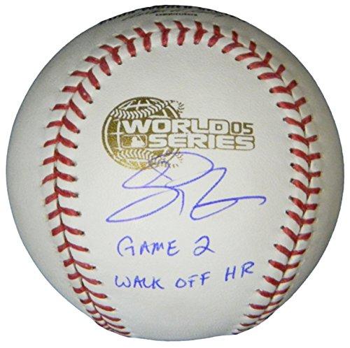 Scott Podsednik Signed Rawlings Official 2005 World Series Baseball w/Game 2 Walk Off HR