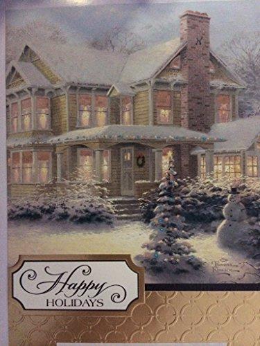 Happy Holidays Thomas Kinkade Christmas Boxed Cards 16 Plus 17 Envelopes (Thomas Kinkade Christmas Cards)