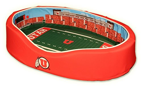 NCAA Utah Utes Stadium Pet Beds, 18 x 22-Inch