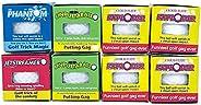 Lot 8 Trick Golf Balls Jokes Exploding, Mist, Wobble, Streamer