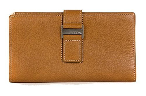 Boconi Kylie RFID Checkbook Clutch (Toast with Blonde) (Collection Madison Leather)