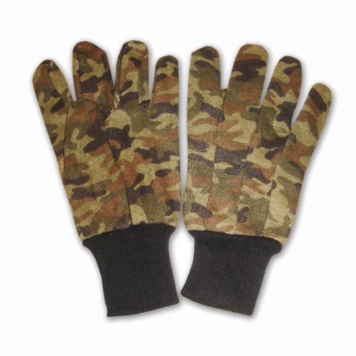 Cordova Safety Products Men's Green Camouflage Jersey Gloves - Large - Camo Green