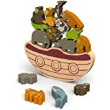 BeginAgain Balance Boat Endangered Animals Game - Promotes Active Play and Motor Skills - 3 and Up