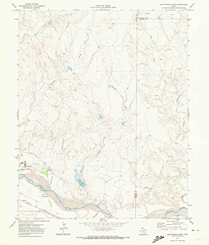 East Tx Chart (YellowMaps Boys Ranch East TX topo map, 1:24000 scale, 7.5 X 7.5 Minute, Historical, 1971, updated 1974, 26.8 x 22.9 IN - Paper)