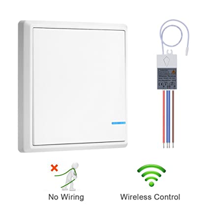 51YdwsA28hL._SX425_ dofoou wireless remote control light switch, no wiring, no tearing