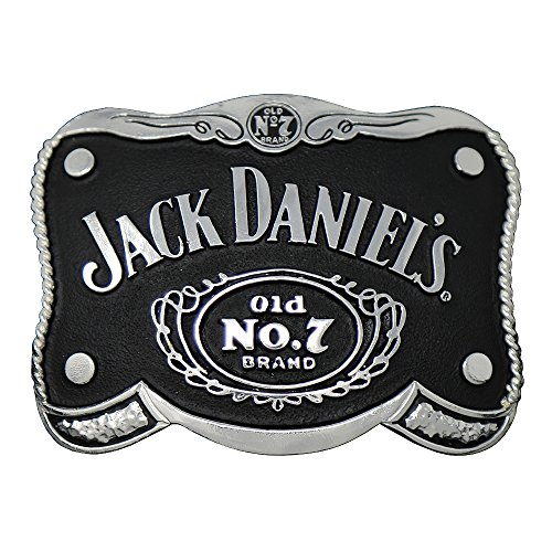 Jack Daniels Brand Shaped Black Belt Buckle - 5067JD