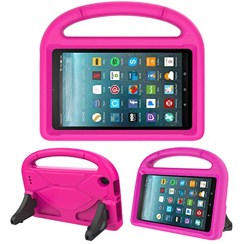 Kids Case for All-New Fire 7 2019/2017 - TIRIN Light Weight Shock Proof Handle Kid-Proof Cover Kids Case for Amazon Fire 7 Tablet (9th/ 7th/ 5th Generation, 2019/2017/ 2015 Release)(7 Display), Rose