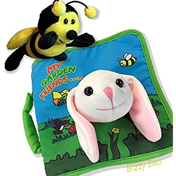c774bd58a44 Plush Stuffed Toy Bee   Spring Bunny Rabbit Cloth Book Baby Gift
