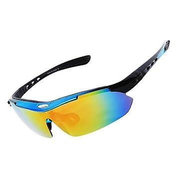 Shoguu Gafas polarizadas de protección UV con 5 lentes intercambiables unisex deportivas gafas de sol resistente