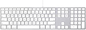 Apple Wired Keyboard with Numeric Keypad Compatible with Mac OS X v.10.6.8 & later Versions (MB110LL/B) (Renewed)