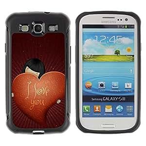 LASTONE PHONE CASE / Suave Silicona Caso Carcasa de Caucho Funda para Samsung Galaxy S3 I9300 / Love I Love You