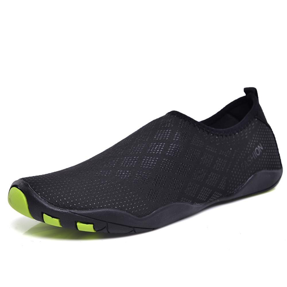 HINZER Water Shoes for Men Women Quick Drying Aqua Shoes(Black 10 Women/8 Men)