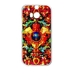 Creative Red Totem Pattern Custom Protective Hard Phone Cae For HTC One M8