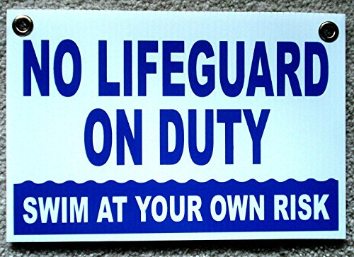 Gray Diving Board - 1Pc Important Unique No Lifeguard On Duty Signs Risk Message Outdoor Board Plastic Coroplast Keep Water Allowed Diving Danger Pools Decor Warning Post Swimming Sign Decal Pool Size 8