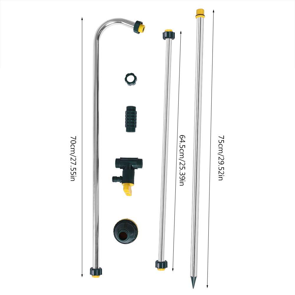 Fdit Kit de Douche Portable Jardin Piscine Camping Stand Kit de T/ête R/églable de Ruyau pour Camping en Plein Air