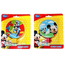 Mickey Mouse and Friends Night Lights- This Colorful Set of 2 Nightlights Is Ideal for Extra Lighting in the Entryway, Hallway, Bedroom or Bathroom.