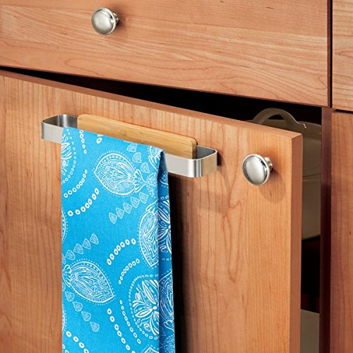 InterDesign AFFIXX Strong Self Adhesive Formbu Towel Bar - 9'' - Bamboo/Brushed Stainless Steel by InterDesign (Image #2)