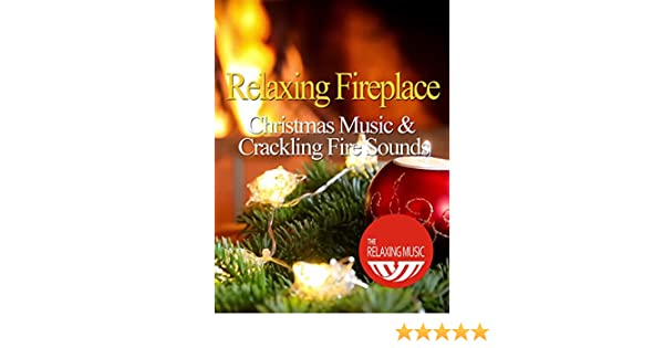 fireplace with instrumental christmas music