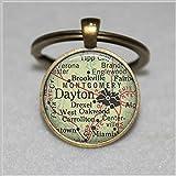 Best BCC Friend And Sisters - Dayton, Ohio map pendant, Dayton map Keychain, Dayton Review