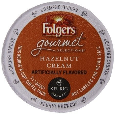 Folgers Hazelnut Cream Keurig K-Cup Portion Pack, 24 Count - Luscious Silk