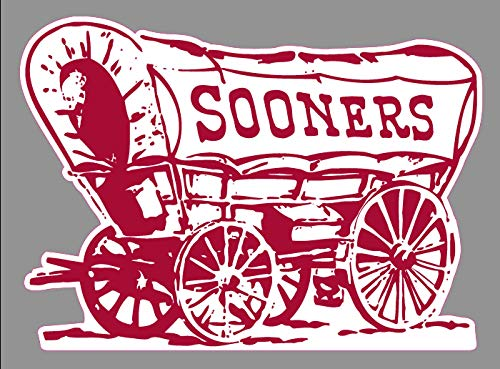 Crazy Discount Oklahoma OU Sooner Schooner Premium Vinyl Sticker Decal Outside Inside Using for Laptops Water Bottles Cars Trucks Bumpers Walls, 6