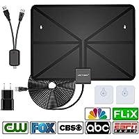 VICTONY 2018 Version HD Digital TV Antenna Kit, 1080P 50 Miles Range Indoor Digital HDTV Antenna,16.5ft Upgraded USB Powered Amplified Antenna, Support All TVs (Black) …