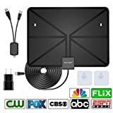 VICTONY 2018 Version HD Digital TV Antenna Kit, 1080P 50 Miles Range Indoor Digital HDTV Antenna,16.5ft Upgraded USB Powered Amplified Antenna, Support All TV's (Black) …