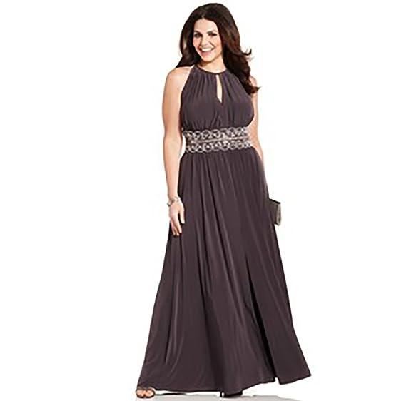 R & M Richards Sleeveless Beaded Evening Gown (8) at Amazon Women\'s ...