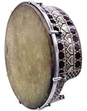 The 16'' Gawharet El Fan Professional Mother Of Pearl Bandir Dof With advance Tuning Lugs With Remo fish skin (DOFS2F)