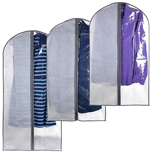 Perfect Garment Bags for Suits - Dress Bag Set for Easy Stor