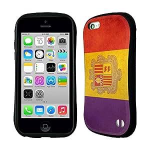 Head Case Designs Andorra Andorran Vintage Flags Hybrid Gel Back Case for Apple iPhone 5c