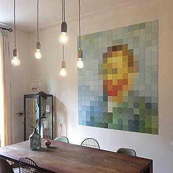QAZQA Design/Modern Esstisch/Esszimmer / Puristische  Pendelleuchte/Pendellampe / Hängelampe/Lampe